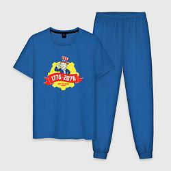 Пижама хлопковая мужская Vault-tec: 1776-2076 цвета синий — фото 1