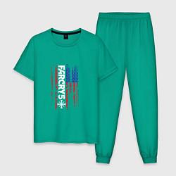 Пижама хлопковая мужская Far Cry 5 цвета зеленый — фото 1