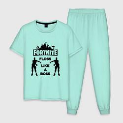 Пижама хлопковая мужская Fortnite Floss цвета мятный — фото 1