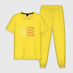 Пижама хлопковая мужская Introducing Zhu цвета желтый — фото 1