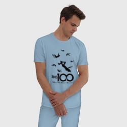 Пижама хлопковая мужская The 100 цвета мягкое небо — фото 2