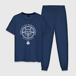 Пижама хлопковая мужская TES: The mages college цвета тёмно-синий — фото 1