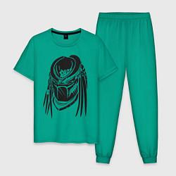 Пижама хлопковая мужская Хищник цвета зеленый — фото 1