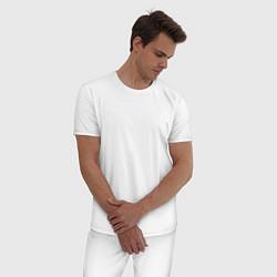 Пижама хлопковая мужская Marshmello цвета белый — фото 2