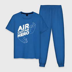 Пижама хлопковая мужская Air Guitar Hero цвета синий — фото 1