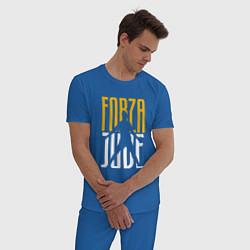 Пижама хлопковая мужская Forza Juve цвета синий — фото 2