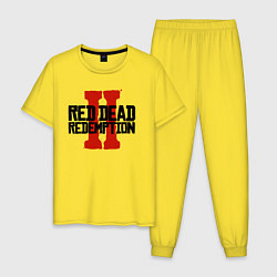 Пижама хлопковая мужская RDR II цвета желтый — фото 1