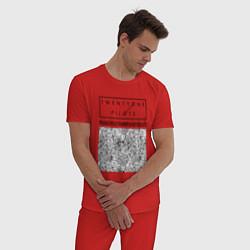 Пижама хлопковая мужская TOP: Blurryface цвета красный — фото 2