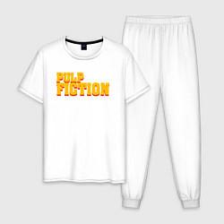 Пижама хлопковая мужская Pulp Fiction цвета белый — фото 1
