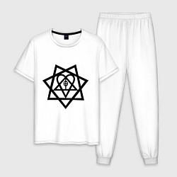 Пижама хлопковая мужская Heartagram цвета белый — фото 1