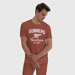 Пижама хлопковая мужская Arsenal Guinners цвета кирпичный — фото 2