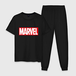 Пижама хлопковая мужская MARVEL цвета черный — фото 1