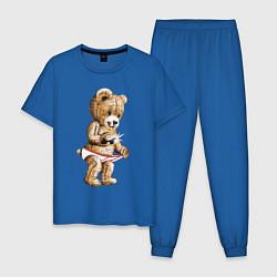 Пижама хлопковая мужская Nasty Bear цвета синий — фото 1