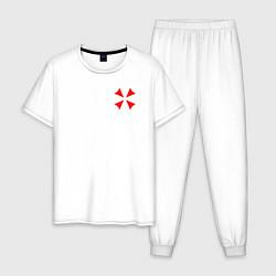 Пижама хлопковая мужская UMBRELLA CORP цвета белый — фото 1