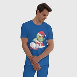 Пижама хлопковая мужская Ктулху цвета синий — фото 2