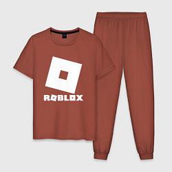 Пижама хлопковая мужская ROBLOX цвета кирпичный — фото 1