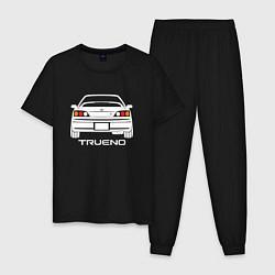 Пижама хлопковая мужская Toyota Trueno AE111 цвета черный — фото 1