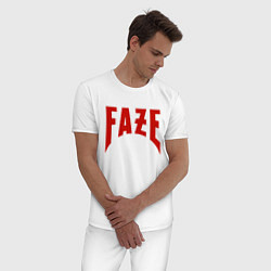 Пижама хлопковая мужская FAZE цвета белый — фото 2