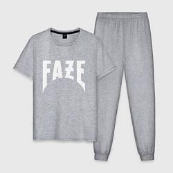Пижама хлопковая мужская FAZE цвета меланж — фото 1