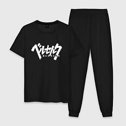 Пижама хлопковая мужская BERSERK цвета черный — фото 1