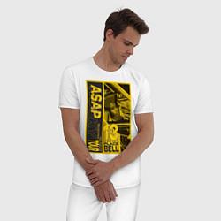 Пижама хлопковая мужская ASAP Rocky: Place Bell цвета белый — фото 2