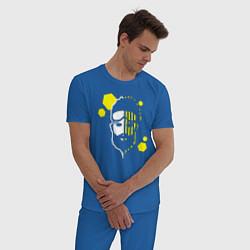 Пижама хлопковая мужская Apex Legends: Mirage Face цвета синий — фото 2