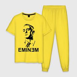 Пижама хлопковая мужская Эминем цвета желтый — фото 1