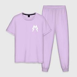Пижама хлопковая мужская Metro: Sparta цвета лаванда — фото 1