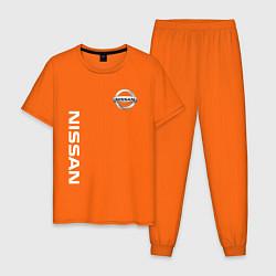 Пижама хлопковая мужская NISSAN цвета оранжевый — фото 1