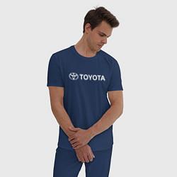 Пижама хлопковая мужская TOYOTA цвета тёмно-синий — фото 2