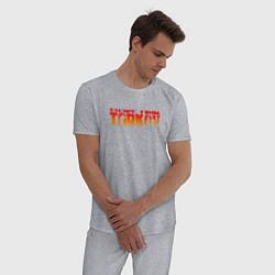 Пижама хлопковая мужская ESCAPE FROM TARKOV цвета меланж — фото 2