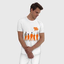 Пижама хлопковая мужская Misfits Orange цвета белый — фото 2