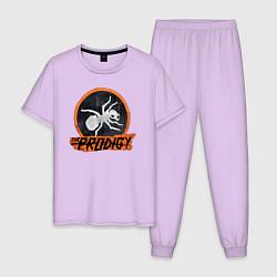 Пижама хлопковая мужская The Prodigy: Orange Style цвета лаванда — фото 1