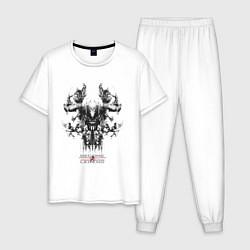Пижама хлопковая мужская Become Legends цвета белый — фото 1