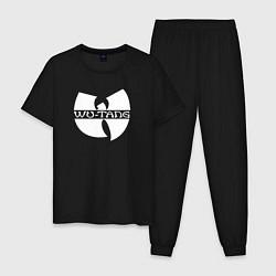 Пижама хлопковая мужская WU TANG CLAN цвета черный — фото 1