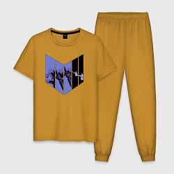 Пижама хлопковая мужская Hawkeye цвета горчичный — фото 1