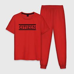 Пижама хлопковая мужская Muse: Citizen Erased цвета красный — фото 1