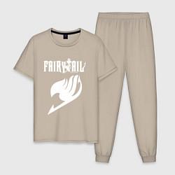 Пижама хлопковая мужская FAIRY TAIL цвета миндальный — фото 1