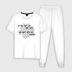 Пижама хлопковая мужская Pink Floyd цвета белый — фото 1
