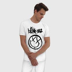 Пижама хлопковая мужская BLINK-182 цвета белый — фото 2