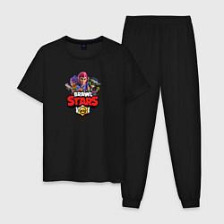 Пижама хлопковая мужская BRAWL STARS цвета черный — фото 1
