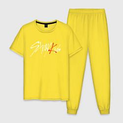 Пижама хлопковая мужская STRAY KIDS FELIX цвета желтый — фото 1