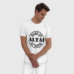 Пижама хлопковая мужская Made in Altai цвета белый — фото 2