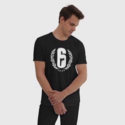 Пижама хлопковая мужская R6S PRO LEAGUE цвета черный — фото 2