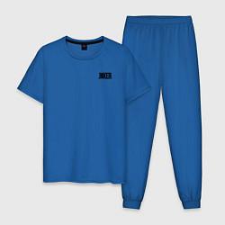 Пижама хлопковая мужская Card suits цвета синий — фото 1