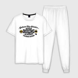 Пижама хлопковая мужская Batman academy цвета белый — фото 1