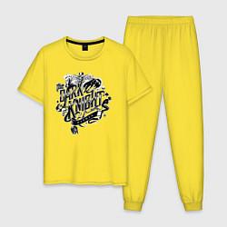 Пижама хлопковая мужская Dark Knight цвета желтый — фото 1