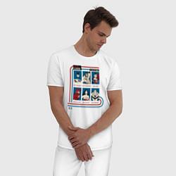 Пижама хлопковая мужская Justice League Class of Heroes цвета белый — фото 2