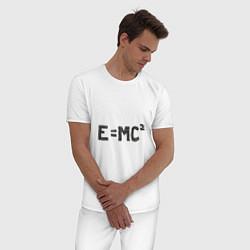 Пижама хлопковая мужская Теория относительности цвета белый — фото 2