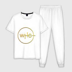 Пижама хлопковая мужская DOCTOR WHO цвета белый — фото 1
